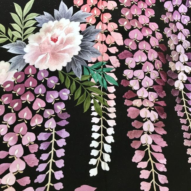 5月に結婚式のプレ花嫁様にオススメ 藤の花の色打掛 Blog レンタルドレスショップ Sposa Blanca スポサブランカ