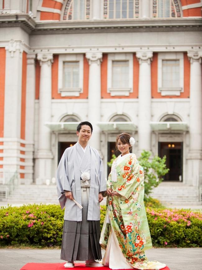 和装のロケーション前撮りレポ 白無垢と色打掛で スポサブランカ大阪