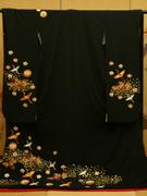 花嫁引き振袖 お引きずり 菊に鶴 クラシカル