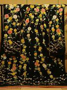 花嫁 引き振袖 黒地 枝垂桜