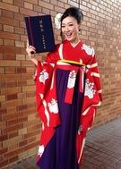 卒業式 袴 JROSSO 赤地アンティーク柄