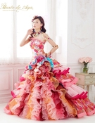 カラードレス ピンクのミックスカラー「Musée de Aya ミュゼ ドゥ アヤ」Pi