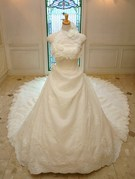 ウェディングドレス ロングトレーン 2WAY