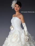 ウェディングドレス ウエストラインをより細く!!
