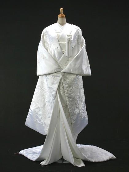 白無垢 刺繍 孔雀 大阪丸福