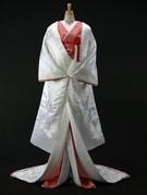 白無垢 赤ふき 鶴刺繍 大阪丸福