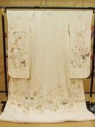 白無垢「一越ちりめん」 神前式の為の特別な打掛 大阪丸福 (刺繍)