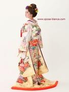 色打掛 人気の白地色打ち掛け カラーコーディネート SPOSA大阪