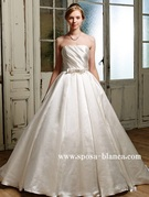 ウェディングドレス シンプル シルクサテン