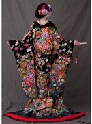 色打掛 相良刺繍 (和装 前撮り 色打ち掛け) 大阪 丸福衣裳店