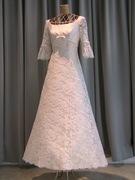 カジュアルウェディングドレス  (レース7部袖)