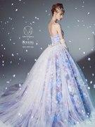 上品なブルーパープルの人気カラードレス mika ninagawa color dress