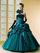 カラードレス エメラルドグリーン