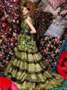 カラードレス グリーン カクテルドレス写真