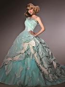 カラードレス 個性的な水色ドレス 大阪 滋賀 岐阜 京都 神戸 奈良