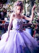 カラードレス ラプンツェルみたいなパープルのドレス