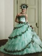 カラードレス シャーベット グリーン