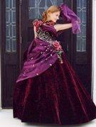 カラードレス ベルベット ベロア (冬ドレス) 紫