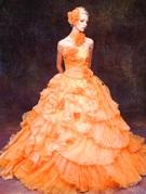 カラードレス パッションオレンジ プリンセス