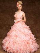 ピンク カラードレス フィトアンドフレア