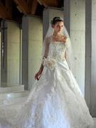 ウェディングドレス Aライン チャペル挙式にふさわしい王道ドレス 大阪 滋賀 徳島 岐阜