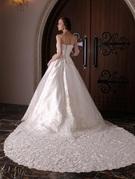 王道ウェディングドレス。ハートネックのAライン、2WAYドレス