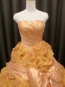 カラードレス オレンジゴールド