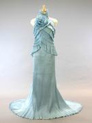 スレンダードレス シルバーブルーのカラードレス