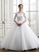 新作ウエディングドレス チュール 袖つき 2WAY WEDDINGDRESS