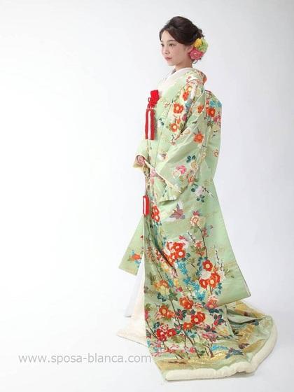色打掛(赤以外) 薄緑 パステルカラー 大阪丸福