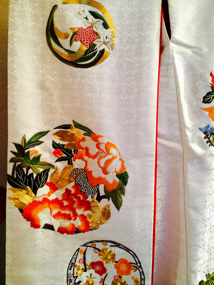 山口美術織物 白地色打掛 大阪 丸福衣裳店