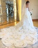 ウエディングドレス ふわふわロングトレーンの2WAYドレス 大阪・滋賀・岐阜店