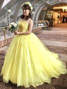 イエローカラードレス♪スプリングカラーのカクテルドレス