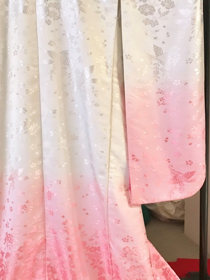白無垢 ピンクグラデーション(白打掛 色無垢)大阪店・滋賀店・岐阜店