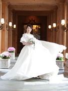 ザ・リッツカールトン大阪でご結婚式をされた新郎新婦様♡ウェディングドレスは「LANVIN en Bleu」(ランバン オンブルー)