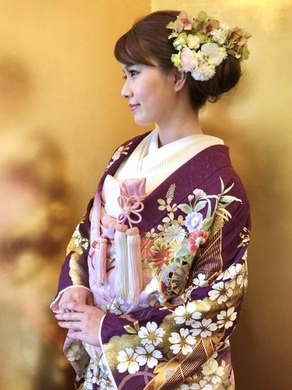色打掛 品格のある古代紫