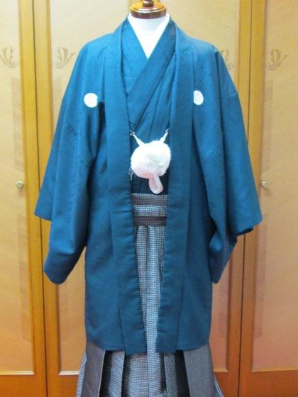 男紋付羽織袴 カラーバリエーション(新郎衣裳・成人式男子着物)青・ピンク・グレー