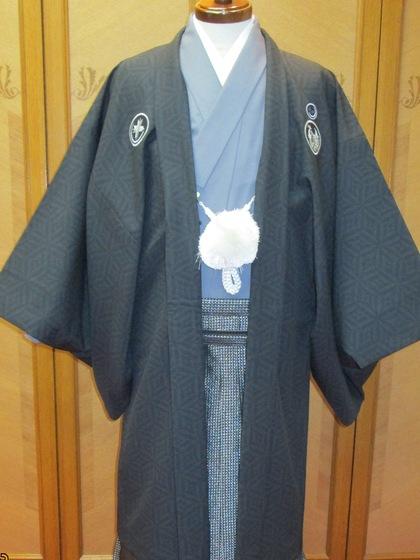 男紋付羽織袴 カラーバリエーション(新郎衣裳・成人式男子着物)赤・青・紺色 ぐんじょう色