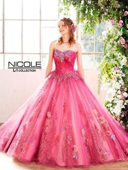 新作カラードレス ニコル(NICOLE)チェリーピンク