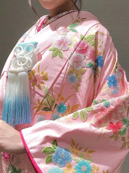 色打掛 ピンク 相良刺繍 ~可愛いパステルカラーの和装でお色直し