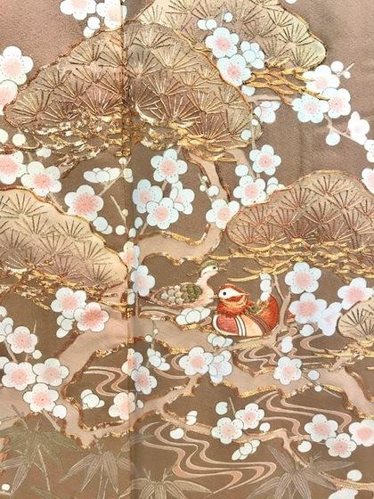 色留袖 レンタル 刺繍 梅 おしどり 大阪 丸福衣裳 スポサブランカ