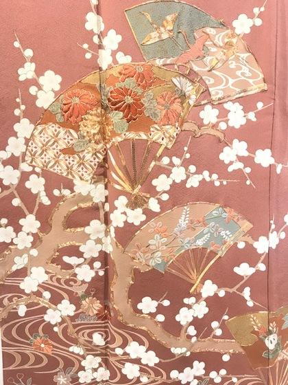 色留袖 手描き 刺繍