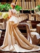 ウエディングドレス シルクサテン