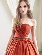 カラードレス テラコッタ(橙) トレンドのアースカラー