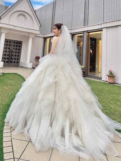 ウエディングドレス キヨコハタ チュールのプリンセスドレス 大阪 滋賀 岐阜店