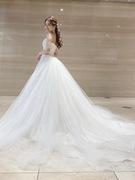 ウェディングドレス チュールのプリンセスドレス