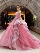 カラードレス チュールのボリューミーなグリッタードレス(キヨコハタ)