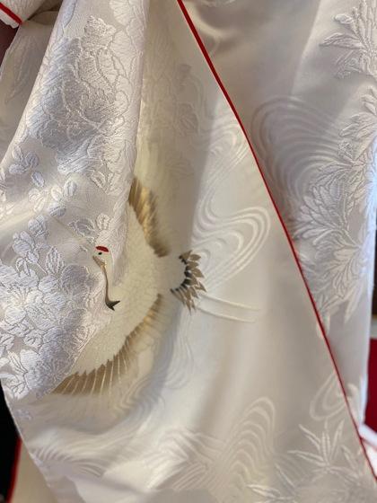 白無垢 赤こぶき 刺繍 和装結婚写真